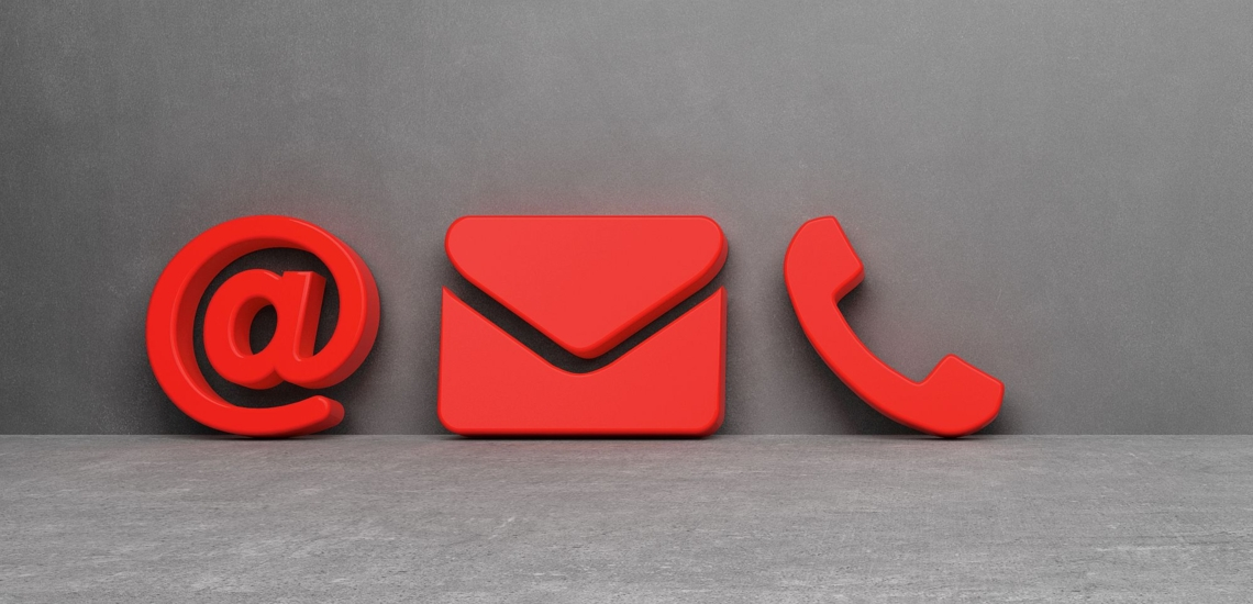 Kontakt Symbole Email Brief Telefon