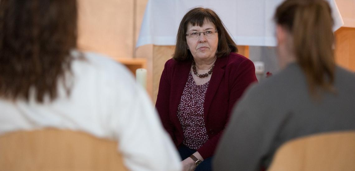Doris Schäfer im Gespräch