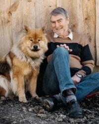 Porträt Mann mit Hund