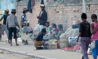 Straßenszene in Fianarantsoa auf Madagaskar